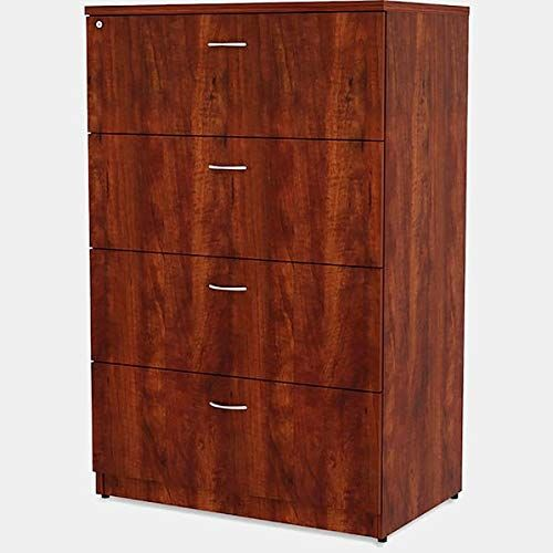 Wood Lateral Filing Cabinet With Full Extension Filing Cabinet With 4 Locking Drawers Cherry Filing Cabinet Cabinet Office Furniture File Cabinets