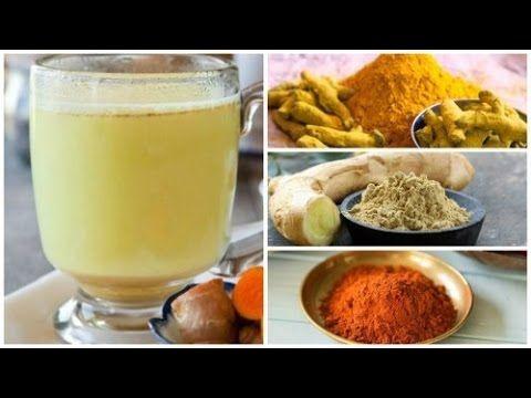 Bebida de jengibre, cúrcuma y pimienta de Cayena para desintoxicar el cuerpo…