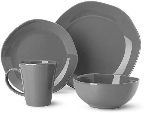 Amazon Com Dishes Dinnerware Set Irregular Glaze Dishware Set Tableware Set One Set Service For One Person Grey Dinn Dinnerware Set Dinnerware Dishware Sets