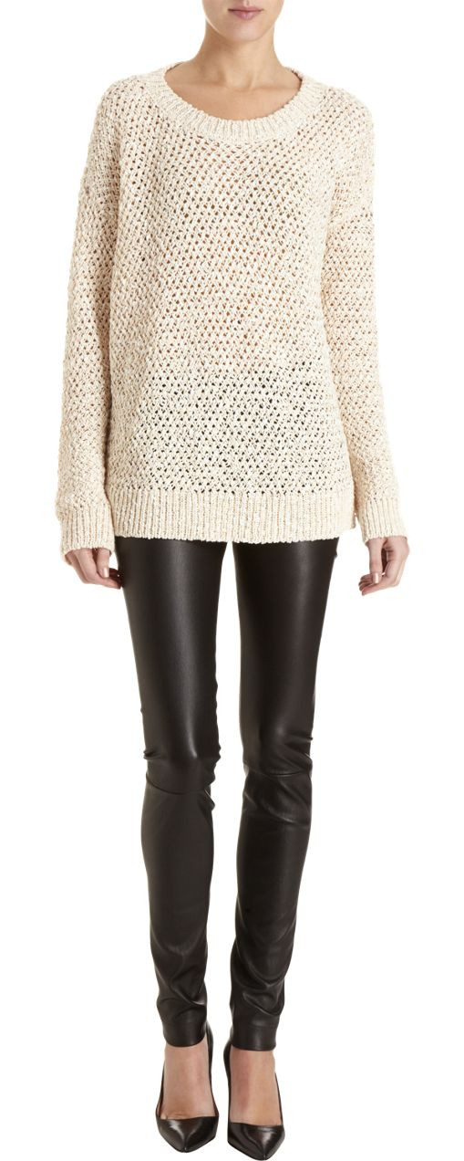 #Leather is a huge trend this fall.  Is anyone bold enough to rock #leggings like these? This outfit is definitely channeling bad-girl Sandy in Grease!