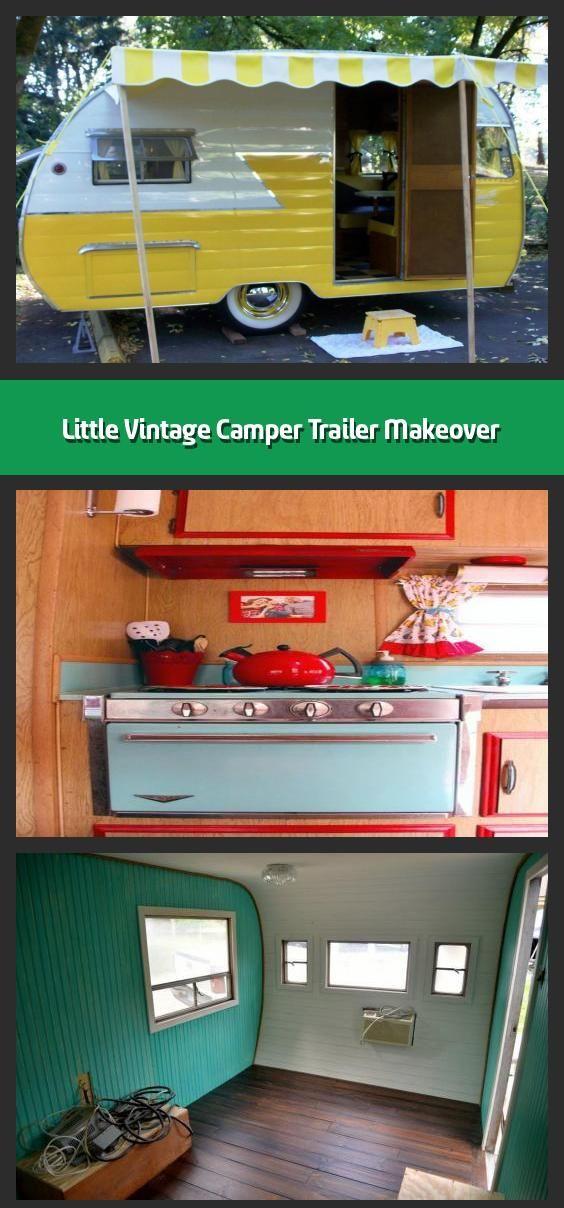 Little Vintage Camper Trailer Makeover In 2020 Vintage Campers Trailers Vintage Camper Vintage Trailers