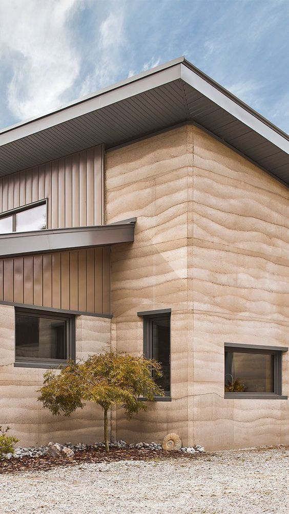 Rammed Earth Construction - Fine Homebuilding. Low Cost House Construction Techniques | Minimalist House Exterior | What Is A Concept Home. #modernliving #livingroominspiration #rammed earth buildings