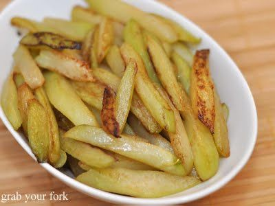 chocho/chayote fries