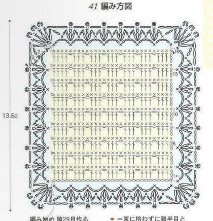코바� 도안 : 사각 도일리 �은 모티브 패턴, 사각 도일리는 엮어서 아름다운 커버를 만들어 보아요 : 네이버 블로그