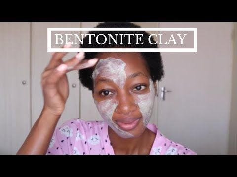 Bentonite Clay Face Mask Skincare Routine South African Youtuber