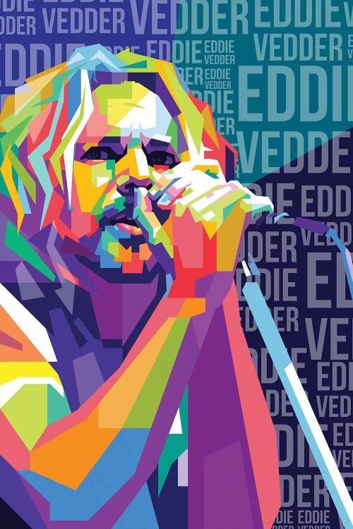 Eddie Vedder Pearl Jam Canvas Art By Dayat Banggai Icanvas In 2020 Eddie Vedder Pearl Jam Art Pearl Jam
