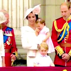 "princesscharlottes: "" ""the duchess of cambridge giving princess charlotte a kiss ♥ "" """