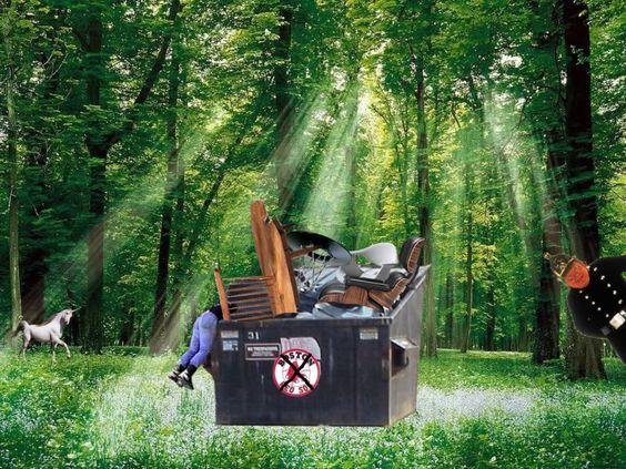 The magic dumpster!