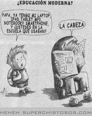 Educacion Moderna: Tantos recursos tecnológicos que nos acercan a los conocimientos de manera impensada... Pero sin nuestro cerebro, nada es útil...