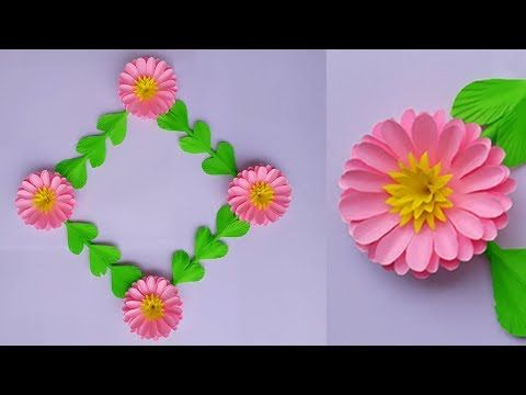Paper Flower Wall Hanging Paper Wall Hanging Craft Ideas Wall