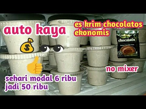 Ide Bisnis Modal Kecil Cara Membuat Ice Cream Chocolatos Ide Usaha Youtube Ice Cream Cream Drinks