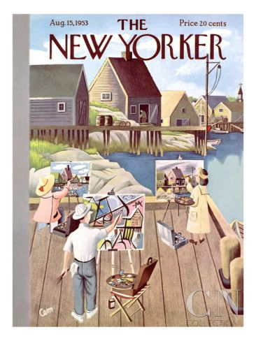 The New Yorker Cover - August 15, 1953 Poster Print by Charles E. Martin at the Condé Nast Collection