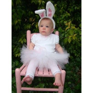 Little white bunny tutu costume ~ girls / toddlers
