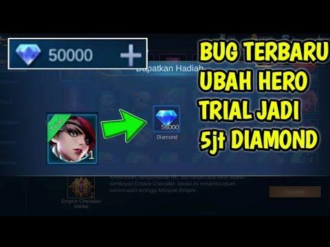 Kode Rahasia Cara Ubah Hero Trial Jadi Diamond Mobile Legend Bug Youtube Youtube