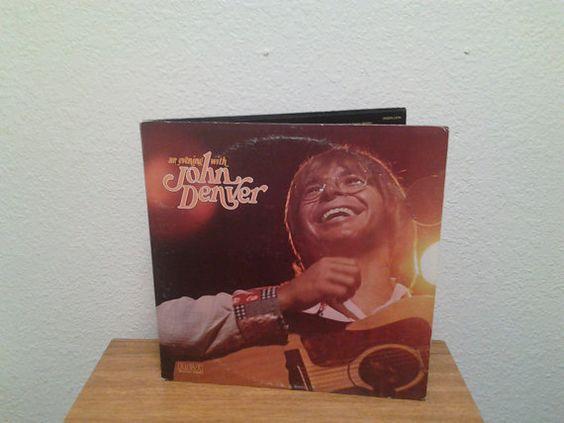 An Evening With John Denver. Vintage Vinyl LP 33 by AbqArtistry, $9.00