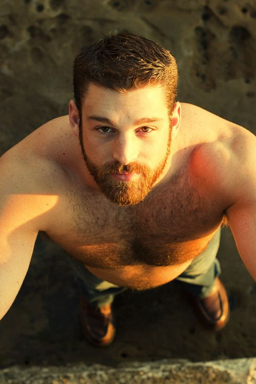 this one, this one is sooooo hot!! I'm a sucker for a bearded man with chest hair and a little belly. I would like to take this one home with me.