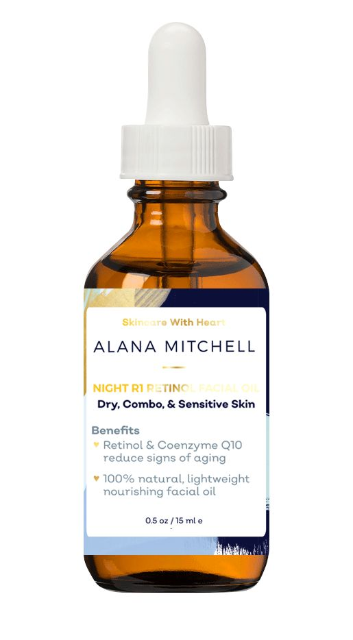 Alana Mitchell Night R1 Retinol Facial Oil - Available @ skincarebyalana.com