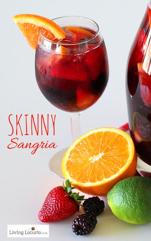 Delicious and Easy Skinny Sangria Recipe! LivingLocurto.com @Amy Locurto | LivingLocurto.com
