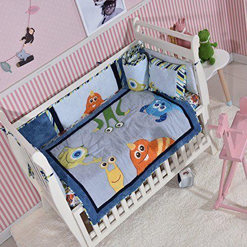 Blue Sea Monster Crib Bedding Quilt Only Baby Bedding Girl Boy Toddler Nursery Quilt Unisex Best Quilted Baby Boy Bedding Sets Baby Girl Bedding Crib Bedding
