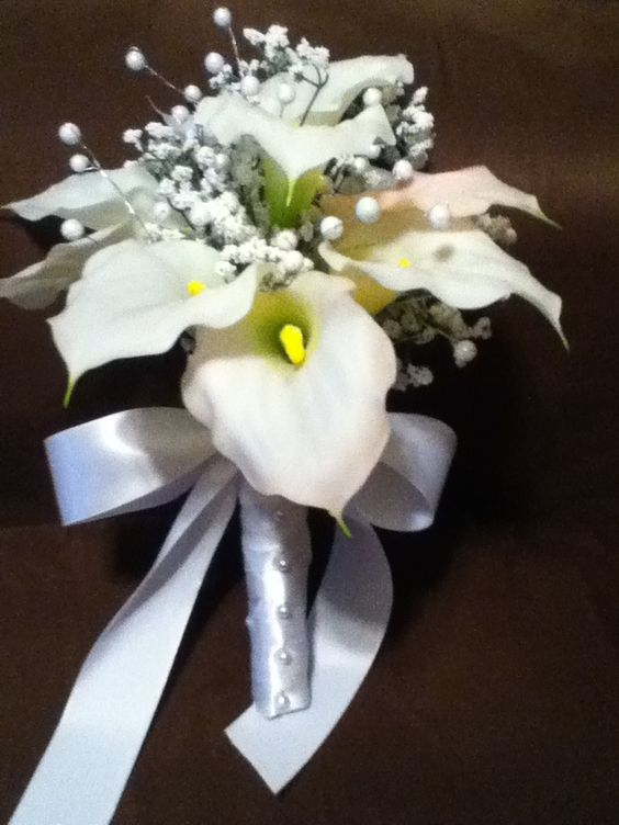 finished mom's calla lily bouquet
