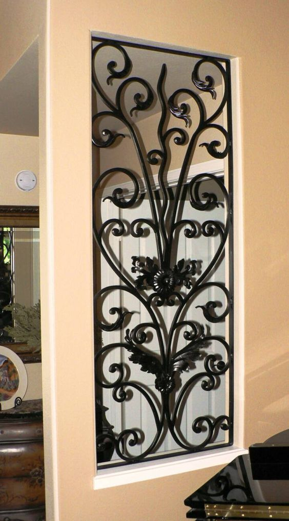 Decorative wrought iron panel home decor pinterest wrought iron blackberries and irons - Wrought iron decorative wall panels ...