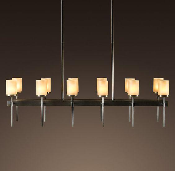 rectangular 12 arm chandelier chandeliers restoration hardware