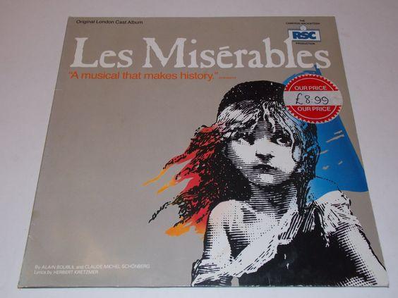 1985 - Les Miserables - Original London Cast Album - Double LP - Vinyl Record Album - Musical
