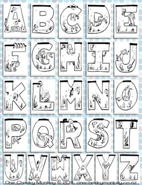 letter sounds coloring pages - photo#40