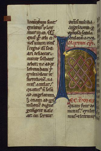 Homilary, Initial H (Hec est), Walters Manuscript W.148, fol. 212v   by Walters Art Museum Illuminated Manuscripts