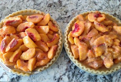 Readable Eatables fresh peach pie