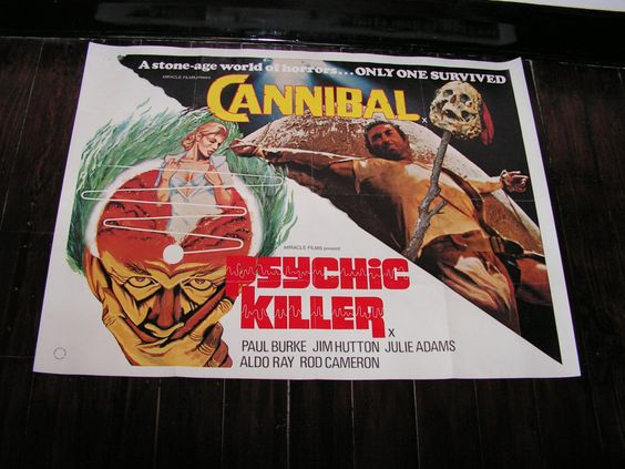 Vintage 1975 Cannibal & Psychic Killer Double Bill Film Movie Poster UK Quad Horror by VintageBlackCatz on Etsy