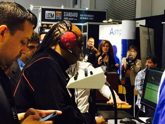 Stevie Wonder ROCKIN @Audeze LCD-XCs at NAMM!