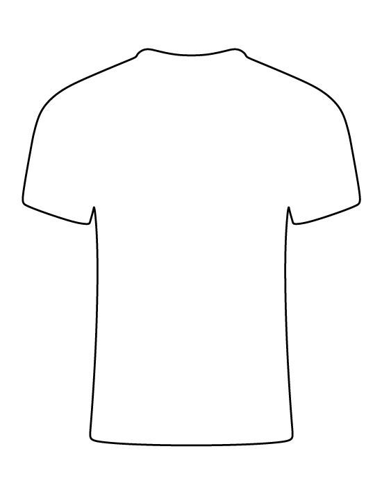 T Shirt Pattern Use The Printable Outline For Crafts Creating Stencils Scrapbooking And Mor Patrones De Camisa Plantillas De Camiseta Artesanias Originales