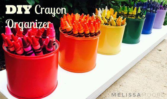 DIY Crayon Organizador