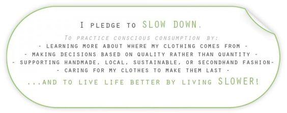 I pledge to slow down