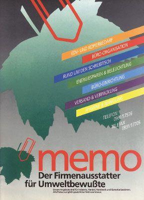 Zeitreise: Die ersten #Kataloge der #memo, damals noch #GmbH. Erfahrt mehr in der Serie: | Timewarp: The first memo #catalogues. More in the #series: http://on.fb.me/1Vr1jmv