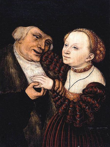 Lucas Cranach d. J. - The Ill Matched Lovers:
