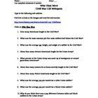 civil war webquest answer sheet history channel website civil wars activities and the o 39 jays. Black Bedroom Furniture Sets. Home Design Ideas