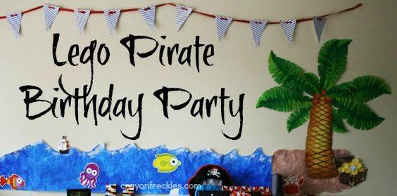 easy lego pirate birthday party decor