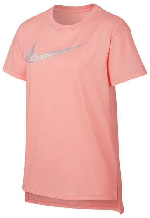 Nike Big Girls Short Sleeve Crew Neck Tee Shirt New