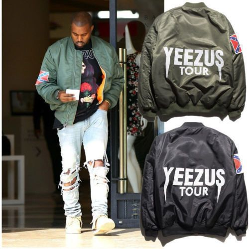 KANYE WEST YEEZUS Tour MERCH MA1 Green Yeezy MA-1 Flight Pilot BOMBER Jackets #New #BasicJacket