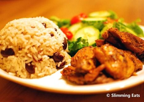 traditional jamaican chicken&rice and peas recipe