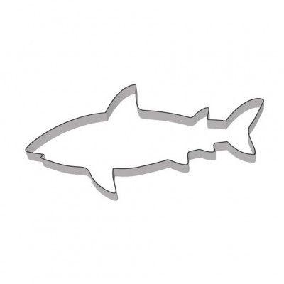 Met deze koekjesvorm zijn de stoerste haaien te bakken. Wie eet nu wie op?? www.creakelder.nl