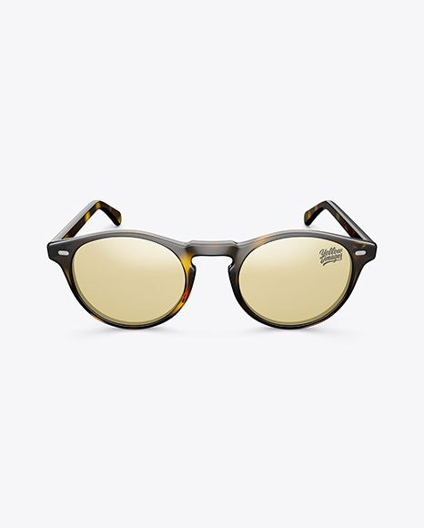 Sunglasses Mockup Front View High Angle Shot In Apparel Mockups On Yellow Images Object Mockups High Angle Shot Design Mockup Free Free Sunglasses