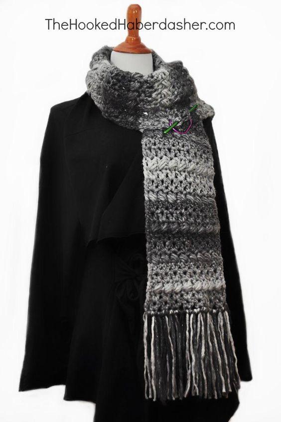 Crochet scarfs, Scarfs and Chunky yarn on Pinterest