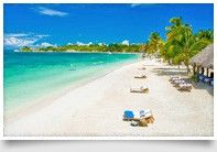 White sandy beaches!