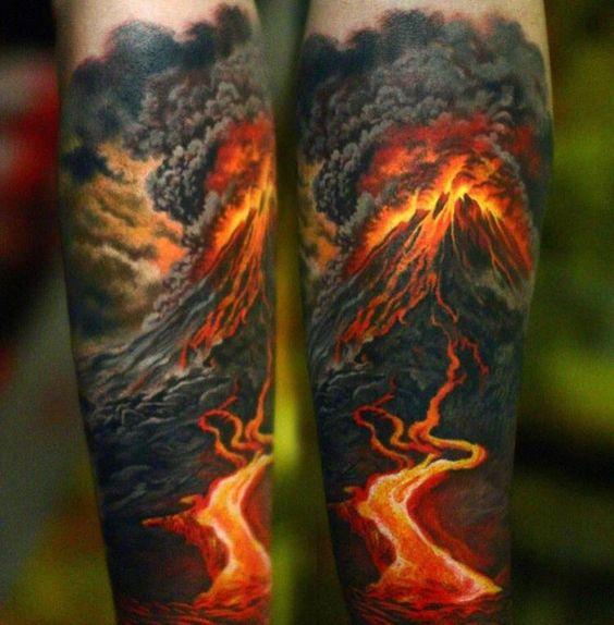 14 Explosive Volcano Tattoos | Tattoodo