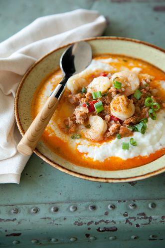 Paula Deen Mexican Shrimp and Grits