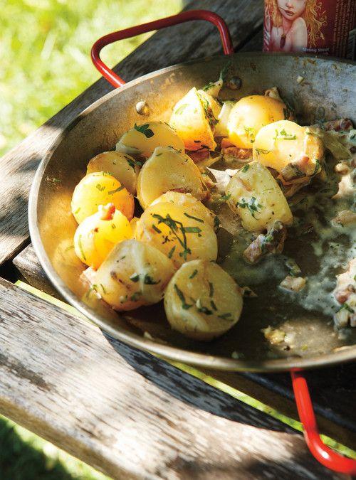Pommes de terre en papillote à la crème Recettes   Ricardo