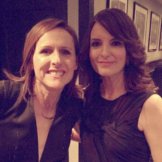 Pin for Later: The Best Behind-the-Scenes Pictures of SNL's 40th Anniversary Special  Molly Shannon and Tina Fey need to do a movie together or something.